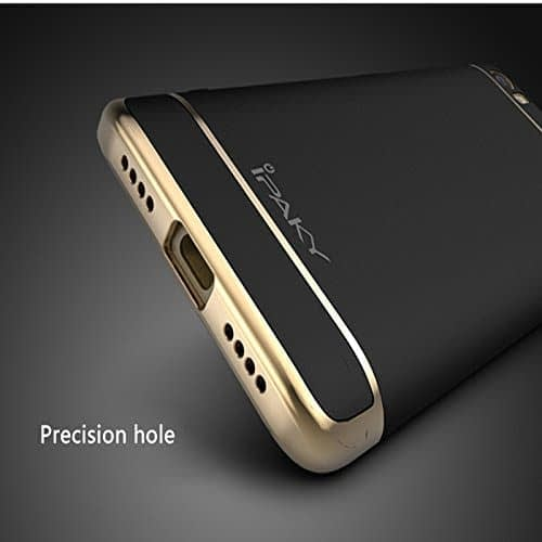 iPaky Chrome 2 Piece Hybrid Protective Back Case Cover for Xiaomi Mi5 - Black 4
