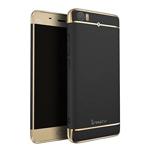 iPaky Chrome 2 Piece Hybrid Protective Back Case Cover for Xiaomi Mi5 - Black 1