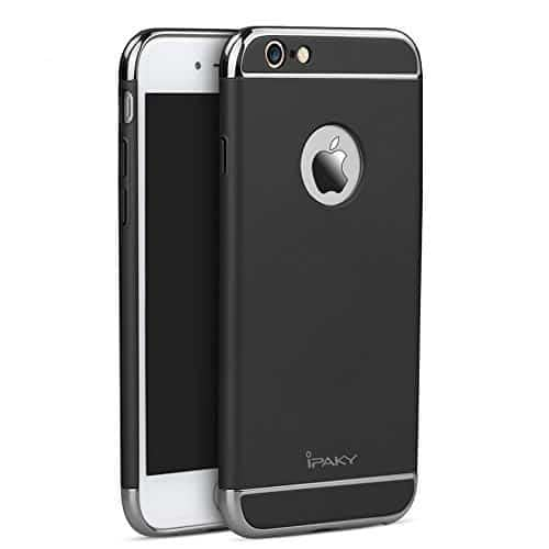 iPaky Chrome 3 Piece Hybrid Protective Back Case Cover for Apple iPhone 6 Plus / 6S Plus - Black 1