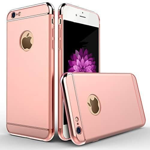 iPaky Chrome 3 Piece Hybrid Protective Back Case Cover for Apple iPhone 6 Plus / 6S Plus - Rose Gold 1