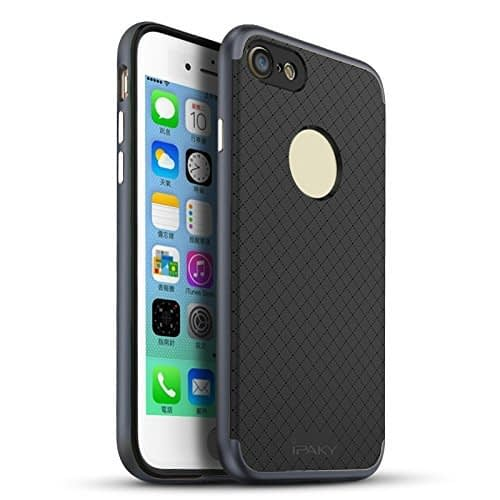 iPaky Hybrid Ultra Thin Shockproof Back + Bumper Case Cover for Apple iPhone 7 - Grey 1