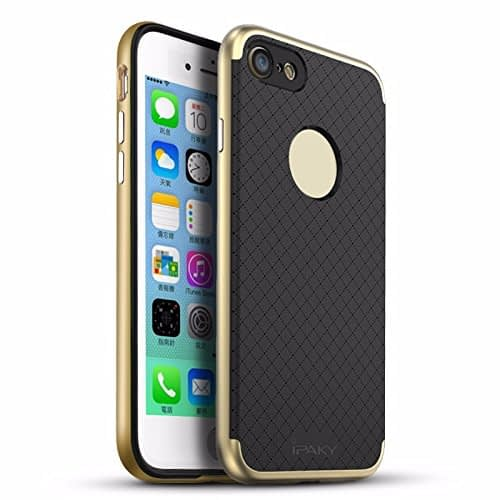 iPaky Premium TPU+PC Hybird Armor Protective Back Bumper Case Cover for Apple Iphone 7 - Gold Chrome 1