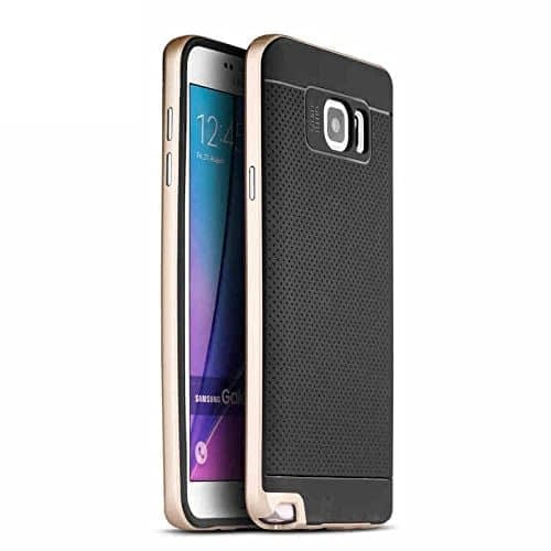 iPaky Premium TPU+PC Hybird Armor Protective Back Cover for Samsung Galaxy Note 5 -Golden 1