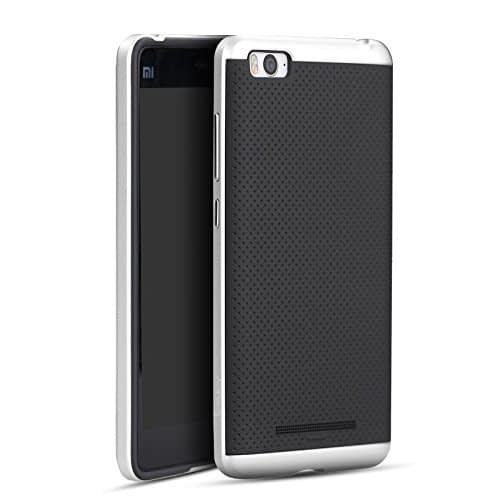 iPaky Premium TPU+PC Hybird Armor Protective Back Cover for Xiaomi Mi 4i -Silver 1