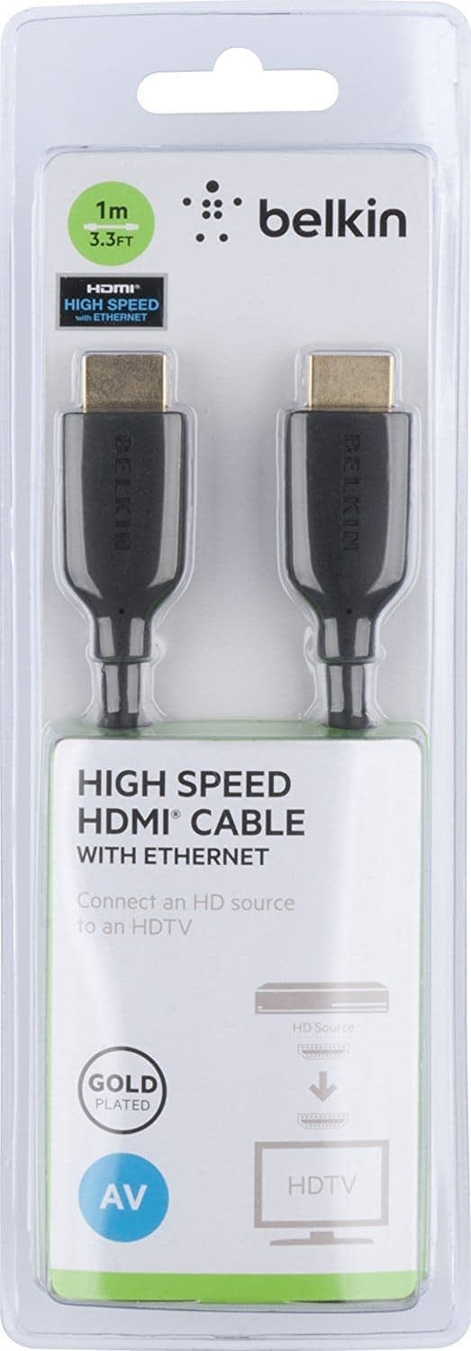 Belkin F3Y021bt1M High Speed HDMI Cable, Supports Ethernet, 3D, 4K, 1080p, and Audio Return (1 Meter) 7