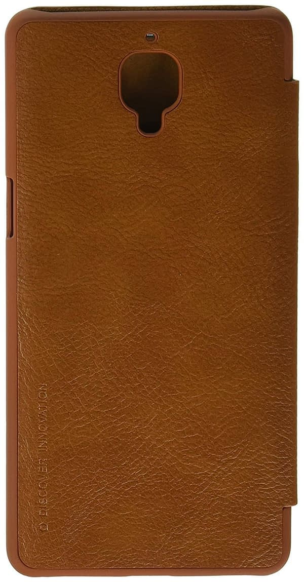 Nillkin Qin Series Royal Leather Flip Case Cover Case For One Plus 3 (Brown) 1