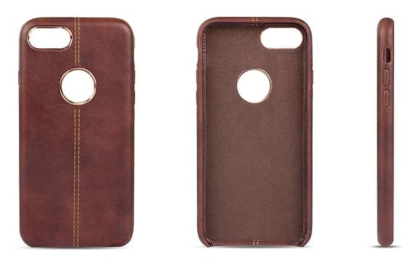 Vorson Pu Leather Case Shock Resistance Protective Back Cover Case for (Apple iPhone 7 (Vorson Back Cover), Brown) 7