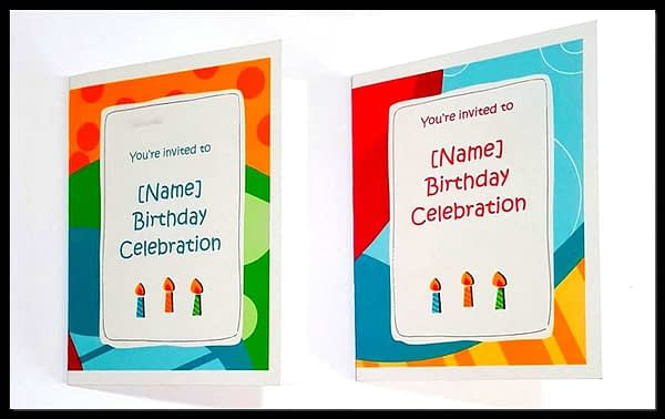 Birthday Invitation Cards for Kids With Customized Details i.e. Name, Date, Time, Venue, Size: two folded 4.20 x 5.4 inch, without envelope (Quantity 20 Cards) 6