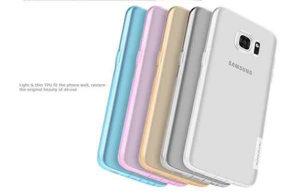Original Nillkin 0.6MM Nature Soft TPU Flexible Back Cover Case for Samsung Galaxy S7 Edge - ( Brown Color ) 9