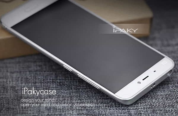 iPaky Chrome 2 Piece Hybrid Protective Back Case Cover for Xiaomi Mi5 - Silver 5