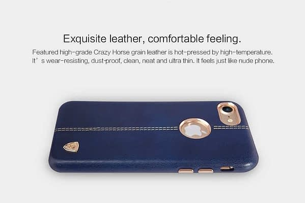 NILLKIN Englon Series Leather Back Luxury Case Cover for Apple Iphone 7 - Blue 8