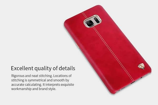 Original NILLKIN Englon Leather Back Cover Case for Samsung Galaxy Note 7 - ( Red Color ) 3
