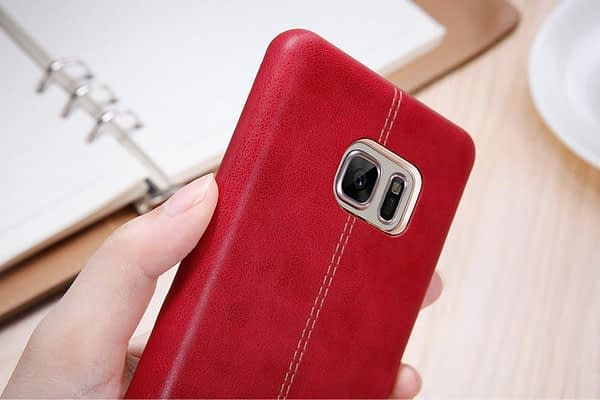 Original NILLKIN Englon Leather Back Cover Case for Samsung Galaxy Note 7 - ( Red Color ) 5