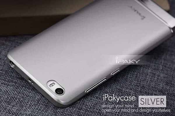 iPaky Chrome 2 Piece Hybrid Protective Back Case Cover for Xiaomi Mi5 - Silver 4
