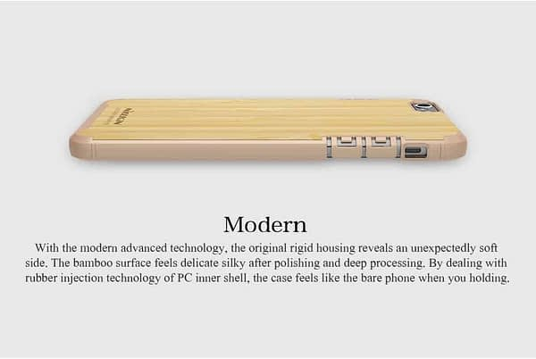 Nillkin Nature Wood Bamboo With PC Slim Back Cover Case for Apple iPhone 6S / iPhone 6 - Gold 5