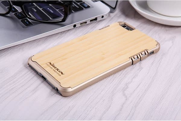 Nillkin Nature Wood Bamboo With PC Slim Back Cover Case for Apple iPhone 6S / iPhone 6 - Gold 8