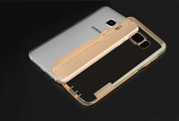 Original Nillkin 0.6MM Nature Soft TPU Flexible Back Cover Case for Samsung Galaxy S7 Edge - ( Brown Color ) 8