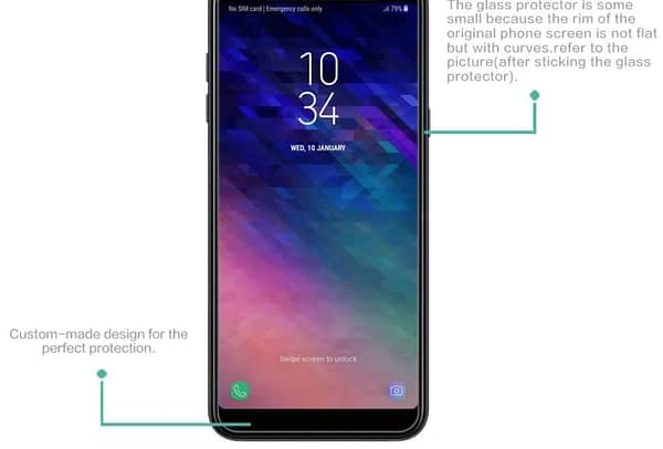 Royal Star 2.5D Curved Edge 0.33mm 9H Tempered Glass Screen Protector Guard for (Samsung Galaxy A7 (2018 Model), Pack of 3Pcs) 4