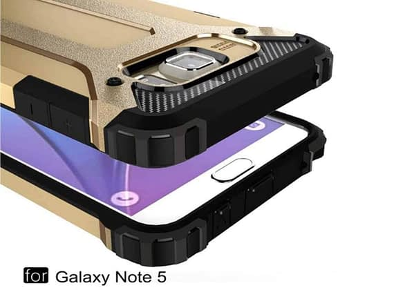 Royal Star Dual Layer Armor Neo-Hybrid Shock-Proof Back Case Cover for (Samsung Galaxy Note 5, Gold) 1
