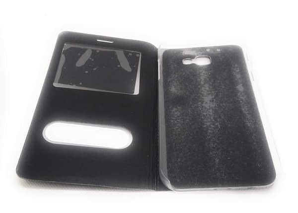 Royal Star Double Window Synthetic Leather Flip Back Case Cover for 5