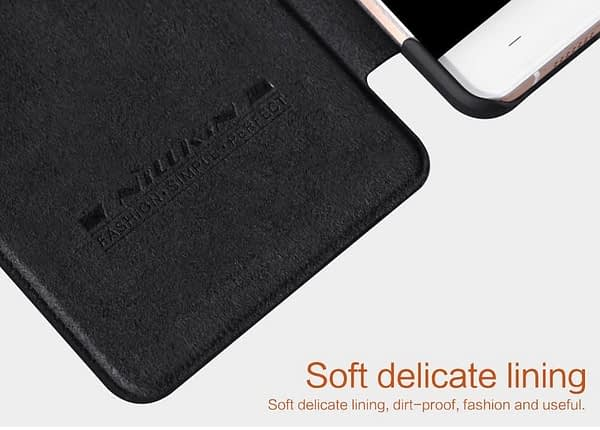 OnePlus X Case, Nillkin[Sleep/Wake Function][Inside Slot][Ultra thin]Qin Series Flip Up Leather Wallet Case For OnePlus X-Retail Package Black 7