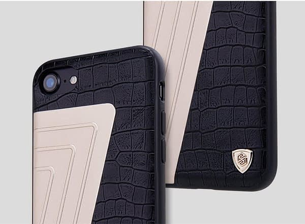 Original Nillkin [ for Apple iPhone 7 ( 4.7 inch ) ] Hybrid Series Elegant Crocodile Pattern Leather Back Cover Case for Apple iPhone 7 ( 4.7 inch ) - ( Black Color ) 8
