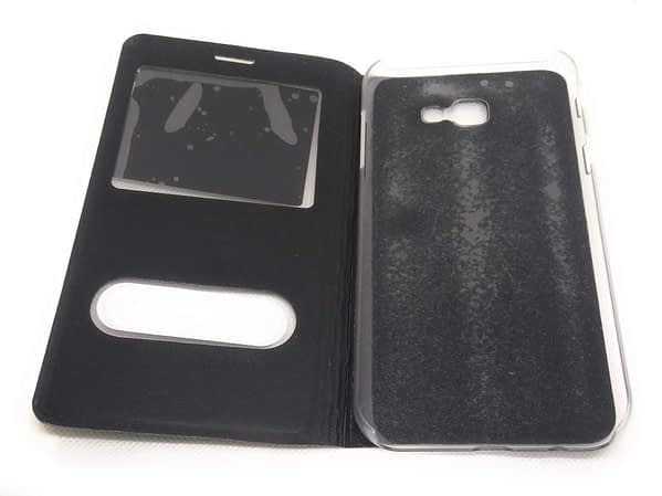 Royal Star Double Window Synthetic Leather Flip Back Case Cover for 4