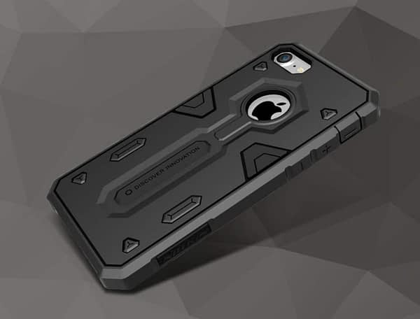 Nillkin Defender-II Dual Layer Shockproof Stand Bumper Back Case Cover for Apple iphone 7 - Black 9