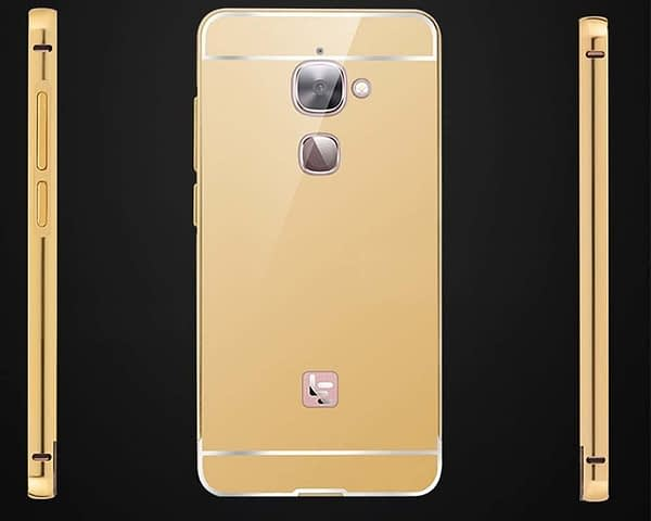 Royal Star Luxury Metal Bumper + Acrylic Mirror Back Cover Case For LeEco LeTv Le 2 / Le 2 Pro (5.5 inch Display ) (Gold Mirror) 7