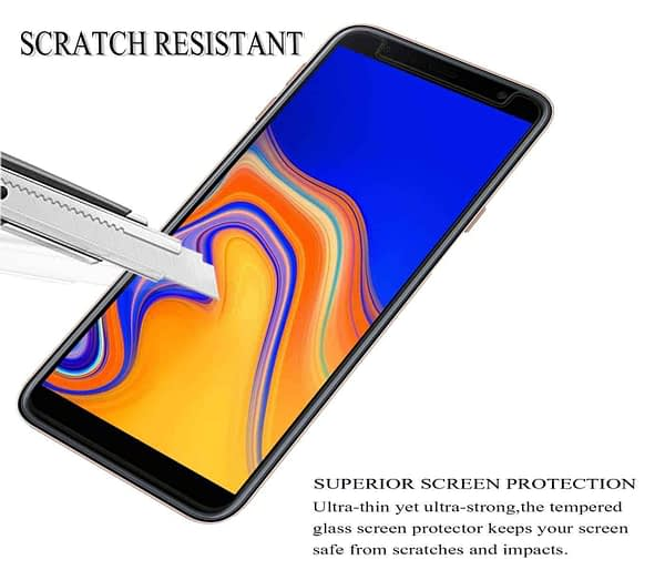 Royal Star 2.5D Curved Edge 0.33mm 9H Tempered Glass Screen Protector Guard for (Samsung Galaxy J4 Plus, Pack of 4Pcs) 5