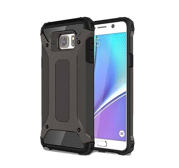 Royal Star Dual Layer Armor Neo-Hybrid Shock-Proof Back Case Cover for (Samsung Galaxy Note Fan Edition (FE), Grey) 1