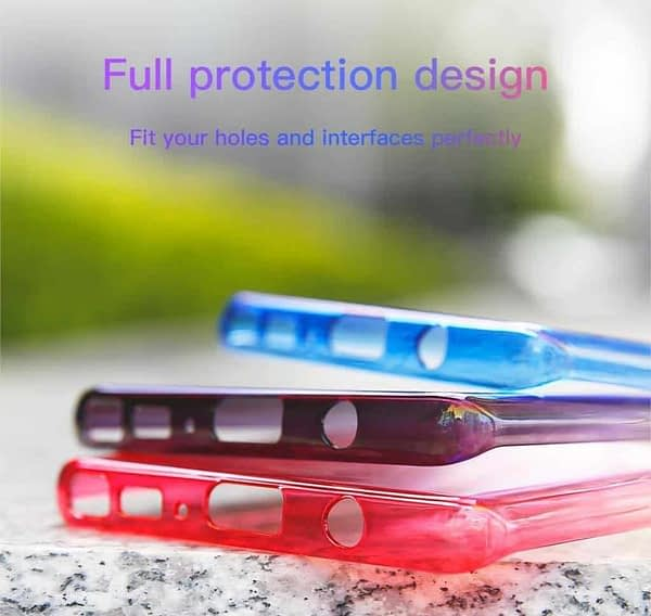 Baseus Glaze Colorful Case Ultra Thin Anti-Scratch Shockproof Double Colors Hard Plastic PC Protective Back Cover Case for Samsung Galaxy (Samsung Galaxy Note 8, Blue) 6