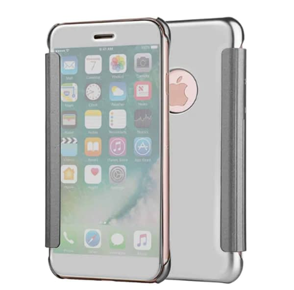 Royal Star Luxury Clear View Mirror Flip Cover Back Case for (Apple iPhone 6 / 6S, Silver) 1