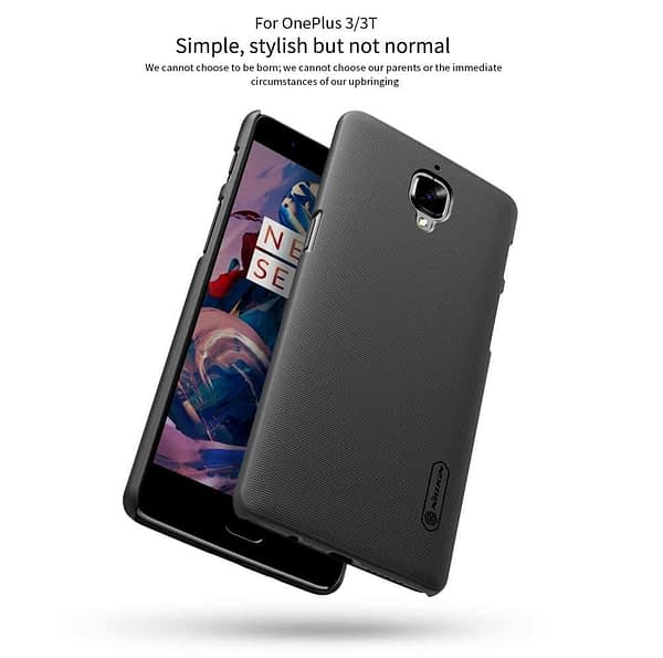 Nillkin Case for OnePlus 3T One Plus 3 T Super Frosted Hard Back Cover Hard PC Black 8