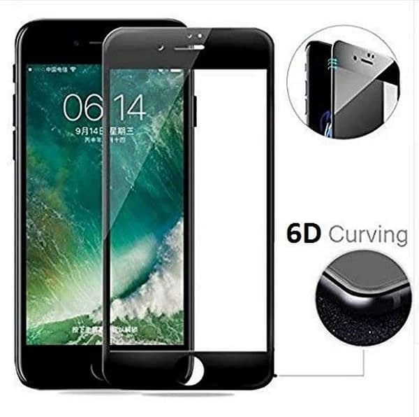 Royal Star 6D Curved 9H Full Coverage Edge to Edge (Super Fingerprint-Proof) Screen Tempered Glass Protector Guard for (Apple iPhone 6 / 6S (6D Glass), Black) 4