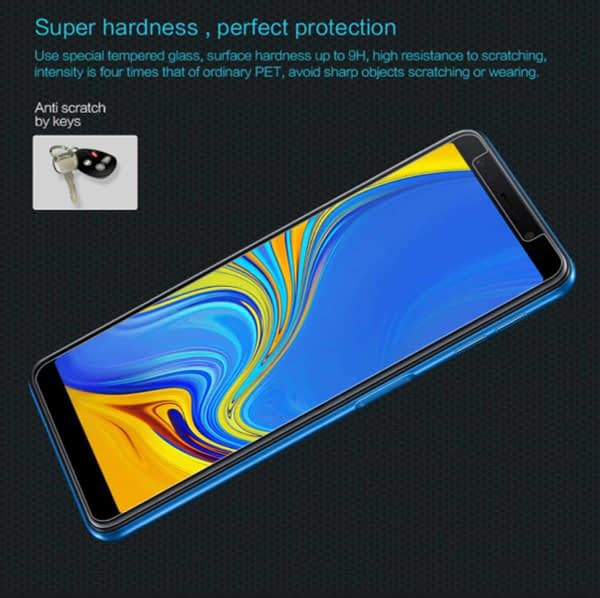 Royal Star 2.5D Curved Edge 0.33mm 9H Tempered Glass Screen Protector Guard for (Samsung Galaxy A7 (2018 Model), Pack of 3Pcs) 9
