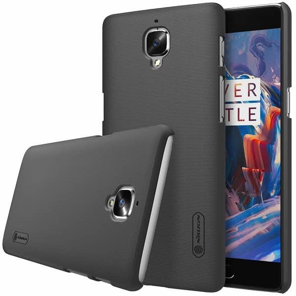 Nillkin ONEPLUS3-Shield-Black Super Frosted Shield Hard Back Cover / Case for OnePlus 3 ( 1+3 ) 1