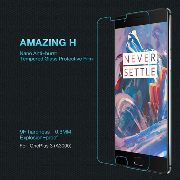 Nillkin Amazing H tempered glass screen protector for Oneplus 3 Oneplus 3T (A3000 A3003) 1