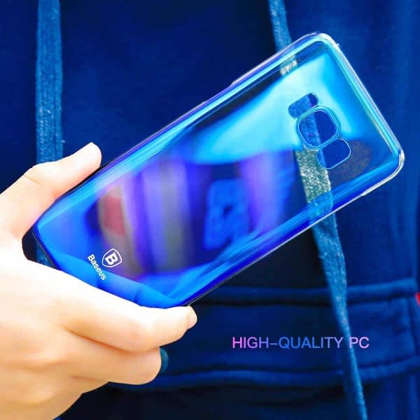 "Baseus Glaze Case For ""Samsung Galaxy S8 Plus"" Ultra Slim, Light Weight Gradual Colorful Case Gradient Change Color Clear Phone Shell Back Cover For ""Samsung Galaxy S8 Plus"" – Blue Dual Tone 8"