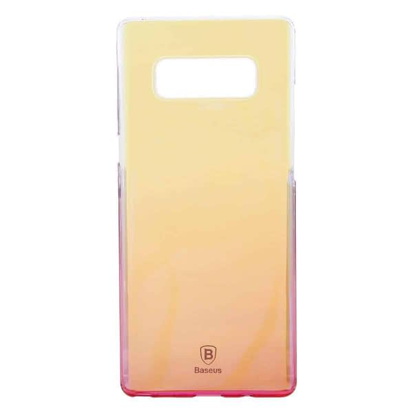 """Baseus Glaze Colorful Case For """"SAMSUNG Galaxy Note 8"""" Ultra Thin Anti-scratch Shockproof Double Colors PC Protective Back Cover Case For SAMSUNG Galaxy Note 8 - Pink 3"""