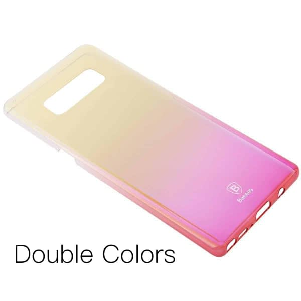"""Baseus Glaze Colorful Case For """"SAMSUNG Galaxy Note 8"""" Ultra Thin Anti-scratch Shockproof Double Colors PC Protective Back Cover Case For SAMSUNG Galaxy Note 8 - Pink 1"""