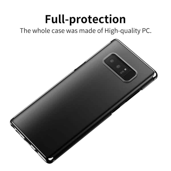"Baseus Glitter Series For ""Samsung Galaxy Note 8"" Clear Case, Premium Shock Absorption TPU Bumper Cushion + Scratch Resistant Clear Protective Hybrid Cases Hard Cover For ""Samsung Galaxy Note 8"" - Black 8"