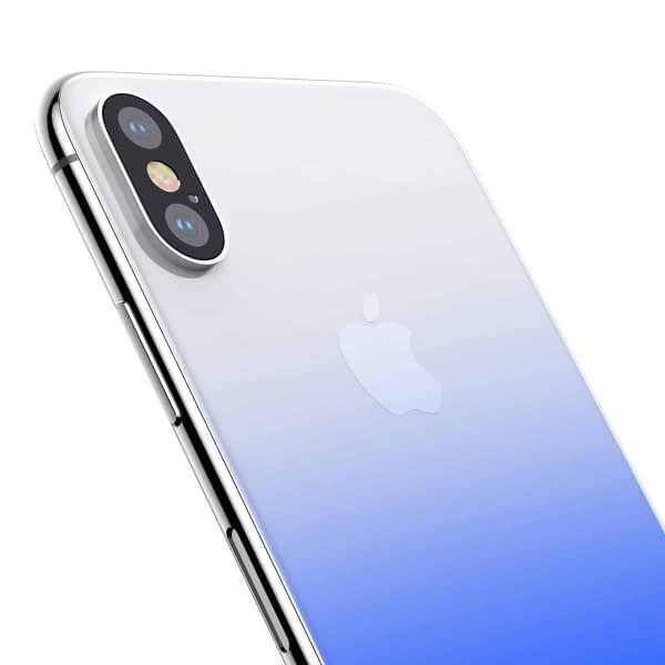 Baseus High-definition 0.3mm Slim Coloring Tempered Glass Back Retral Film Back Protective Film For iPhone X (Blue) 4
