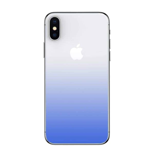 Baseus High-definition 0.3mm Slim Coloring Tempered Glass Back Retral Film Back Protective Film For iPhone X (Blue) 1