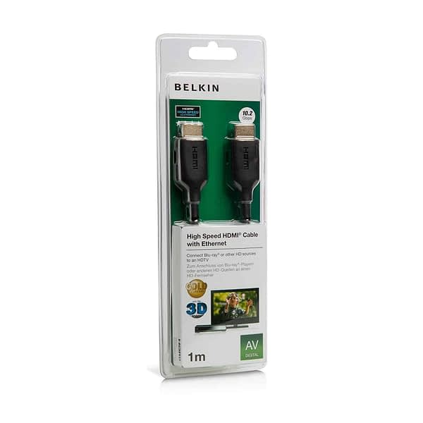 Belkin F3Y021bt1M High Speed HDMI Cable, Supports Ethernet, 3D, 4K, 1080p, and Audio Return (1 Meter) 6