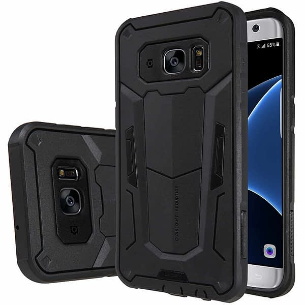 Black Nillkin Defender 2 Shell Heavy Duty Drop Proof Back Case Cover for Samsung Galaxy S7 edge 3