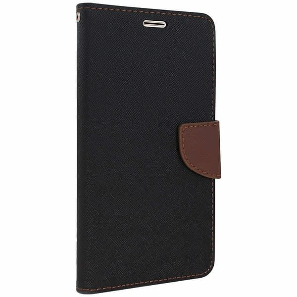 CHL Imported Mercury Fancy Wallet Dairyy Flip Case Cover for Samsung Galaxy On5 - Black Brown 1