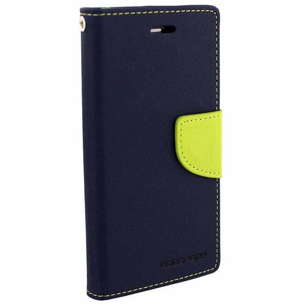 Cubezap Mercury Goospery Fancy Diary Card Wallet Flip Case Back Cover for Sony Xperia C Experia S39H - Green Blue 3
