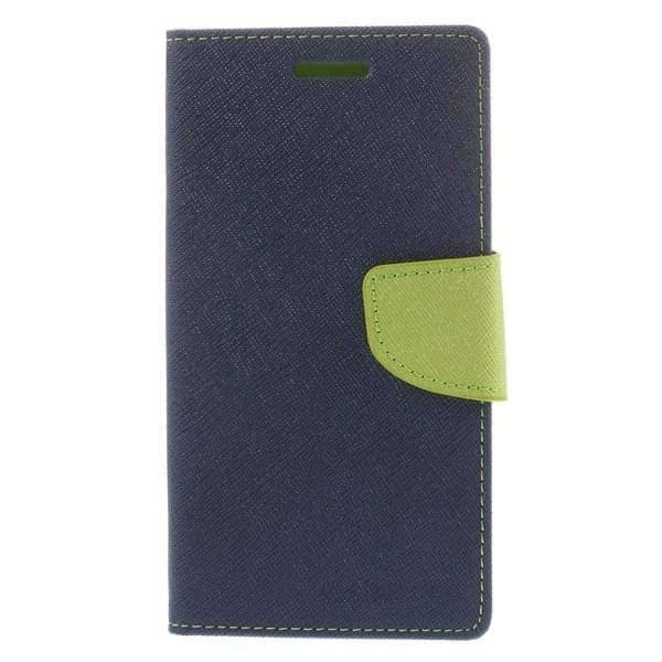 J.N. Mercury Fancy Diary Card Wallet Flip Case Back Cover For Micromax Unite2 A106 (Blue Green) 1