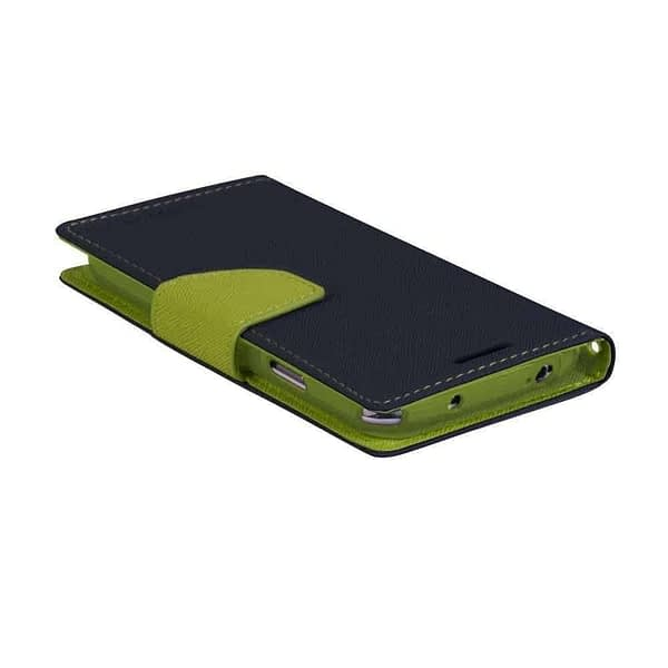 J.N. Mercury Fancy Flip Wallet Case Cover for Micromax YU Yureka/Yureka AQ5510 - Blue/Green 1